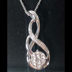 1/2 carat diamond necklace Kay jewelers new